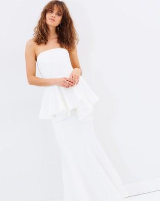C/MEO COLLECTIVE – Autonomy Full Length Dress Ivory