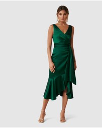 Forever New - Gracelyn Satin Wrap Midi Dress