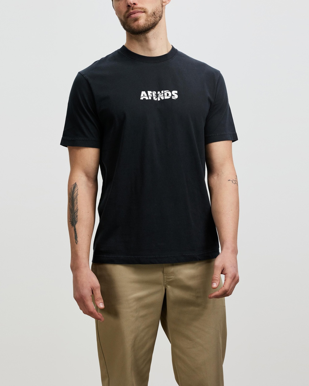 Afends Noise Retro Fit Tee T-Shirts & Singlets Faded Black