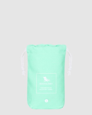 Dock & Bay Large Fitness Towel 100% Recycled Essential Collection - Gym & Yoga (Green)