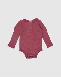 Cotton On Baby - The Long Sleeve Waffle Bubbysuit - Babies