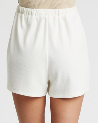 Tussah Cher Shorts - High-Waisted (White)