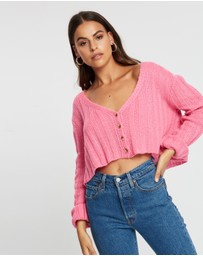 Missguided - Rib Cropped Cardigan