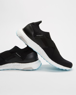 adidas Performance UltraBOOST Slip On DNA Shoes   Women's - Performance Shoes (Core Black, Cloud White & Hazy Sky)