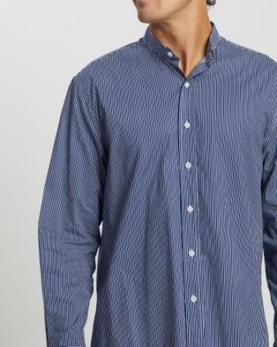 Justin Cassin Everett Stripe Shirt - Casual shirts (Blue)