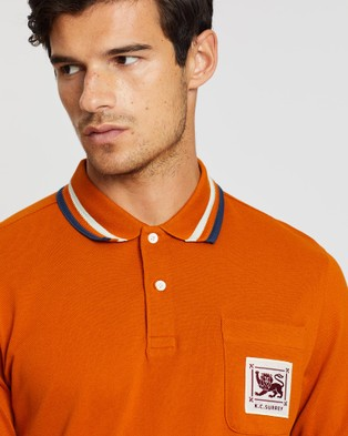 Kent and Curwen Short Sleeve Polo - Casual shirts (Orange)