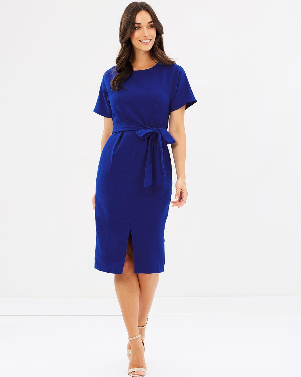 Forcast Ingrid Tie Waist Dress Dresses Cobalt Ingrid Tie Waist Dress