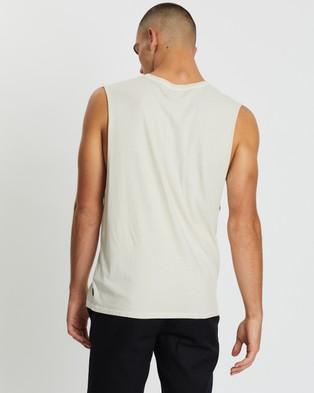 Afends Full Circle Bandcut Tee - T-Shirts & Singlets (Moonbeam)