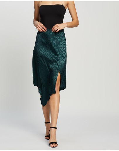 Honey And Beau Tropical Skirt Teal
