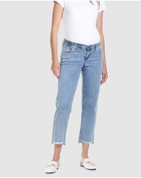 Soon Maternity - Mid Rise Slim Straight Jeans