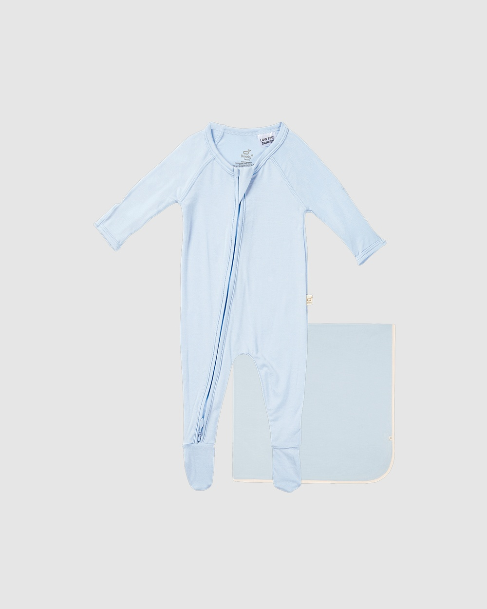 Boody 2 Pack Baby Onesie & Jersey Wrap 2 items Wraps Blankets Sky/Sky 2-Pack
