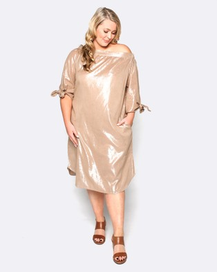 Adrift – Tibi Dress Bronze
