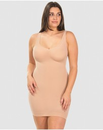 B Free Intimate Apparel - Curvy Ultra Light Shaping V-Tank Slip