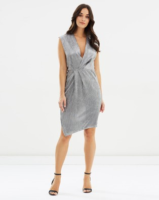Cooper St – Serenity Wrap Dress Silver