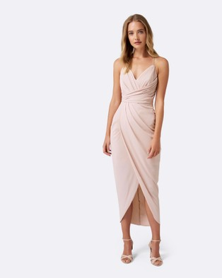 Forever New – Charlotte Drape Dress – Bridesmaid Dresses (Nude)