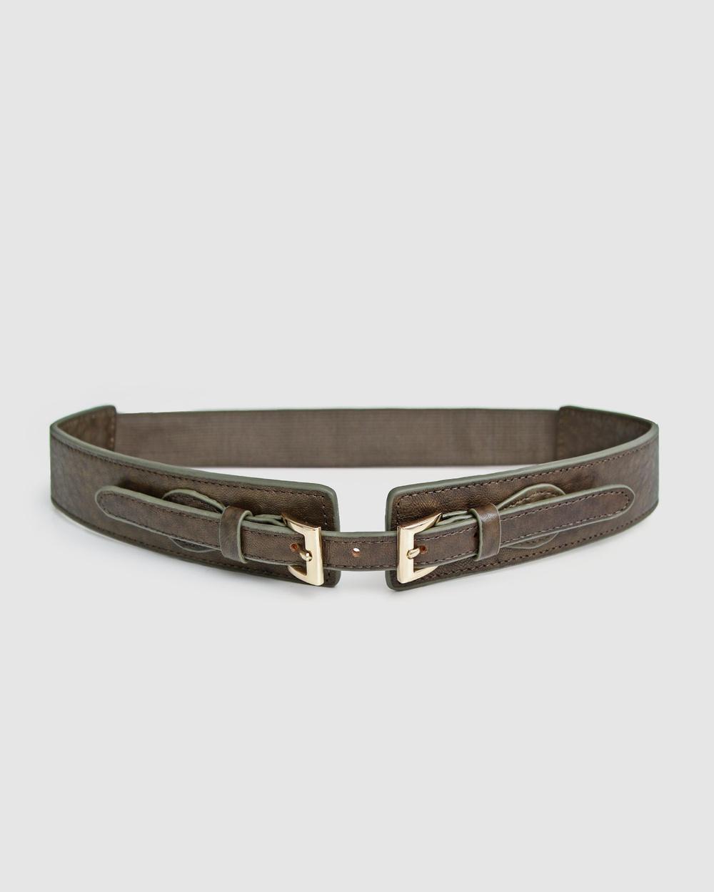 Belle & Bloom London Fog Leather Waist Belt Belts Military