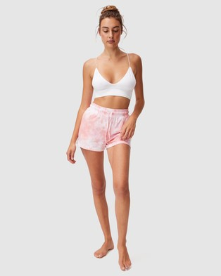 Cotton On Body Jersey Sleep Shorts - Sleepwear (Fiesta Red Tie-Dye)