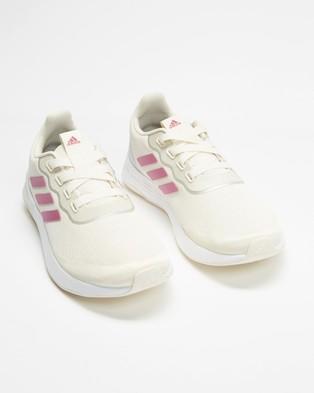 adidas Performance QT Racer Sport Shoes   Women's - Training (Chalk White, Cherry Metallic & Silver Metallic)