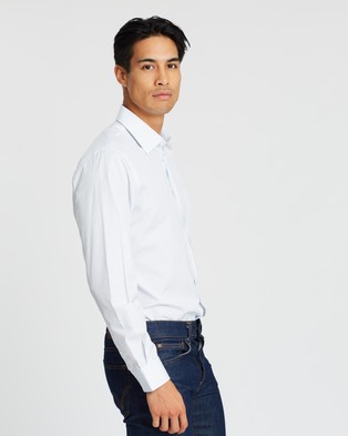Gieves and Hawkes Striped Button Down Shirt - Shirts & Polos (Blue)
