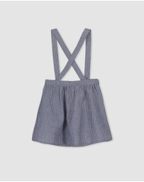 Milky - Stripe Denim Skirt - Kids