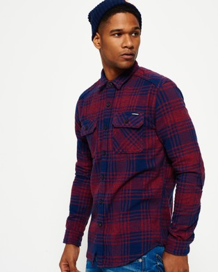 Superdry – Milled Flannel Shirt Lavenham Red Check