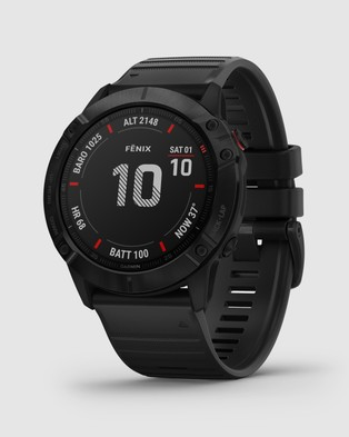 Garmin fenix 6X Pro - Smart Watches (Black & Black Band)
