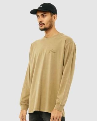Rusty - Comp Wash Long Sleeve Tee - Long Sleeve T-Shirts (CVG) Comp Wash Long Sleeve Tee