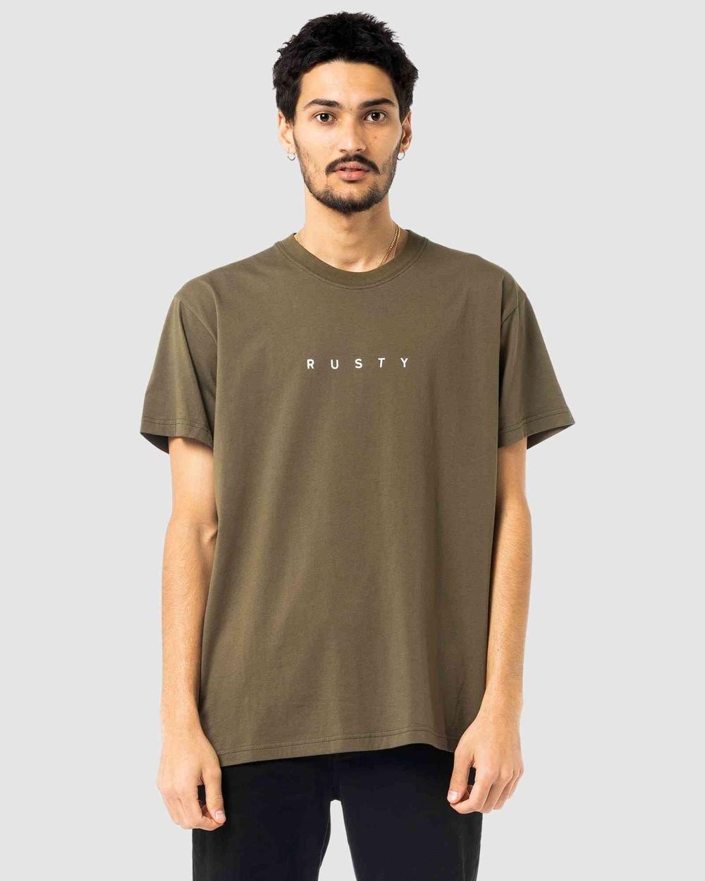 Rusty - Short Cut Short Sleeve Tee - Short Sleeve T-Shirts (GGN) Short Cut Short Sleeve Tee