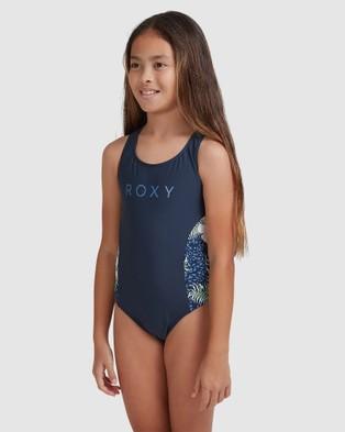 Roxy Girls 8 14 Heaven Wave One Piece Swimsuit - One-Piece / Swimsuit (MOOD INDIGO ANIMALIA)