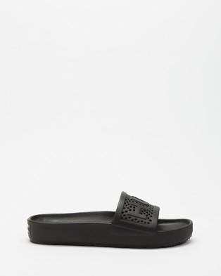 Hunter Original Lightweight Moulded Slides   Women's - Slides (Black)
