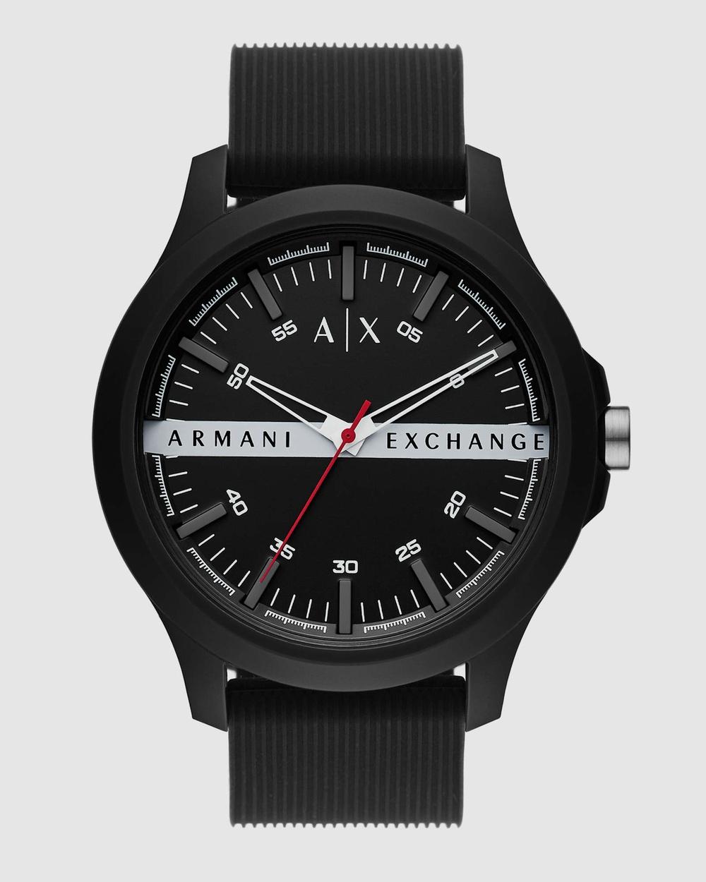 Armani Exchange Black Analogue Watch AX2420 Watches Black