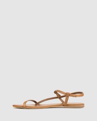 Betts Kora Leather Flats - Casual Shoes (Cognac)