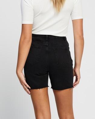 Atmos&Here Dana Recycled Cotton Blend Denim Shorts Black Cotton-Blend