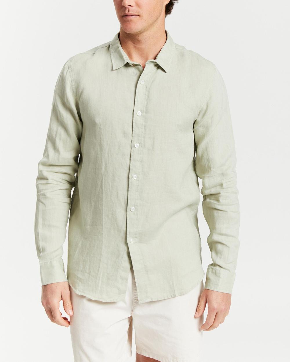 AERE LS Linen Shirt Shirts & Polos Mint