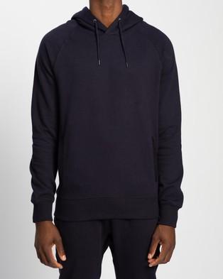 AERE Organic Cotton Hooded Sweat - Hoodies (Navy)
