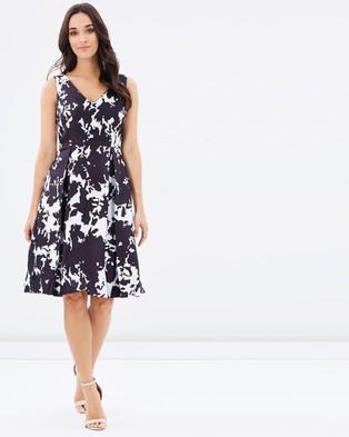 Forcast – Luciana Monochrome Tea Dress – Dresses (Black)