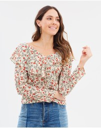 Forcast - Martha Frill Neck Blouse
