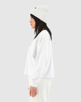 Huffer - LS Chloe Tee College H - T-Shirts & Singlets (White) LS Chloe Tee-College H
