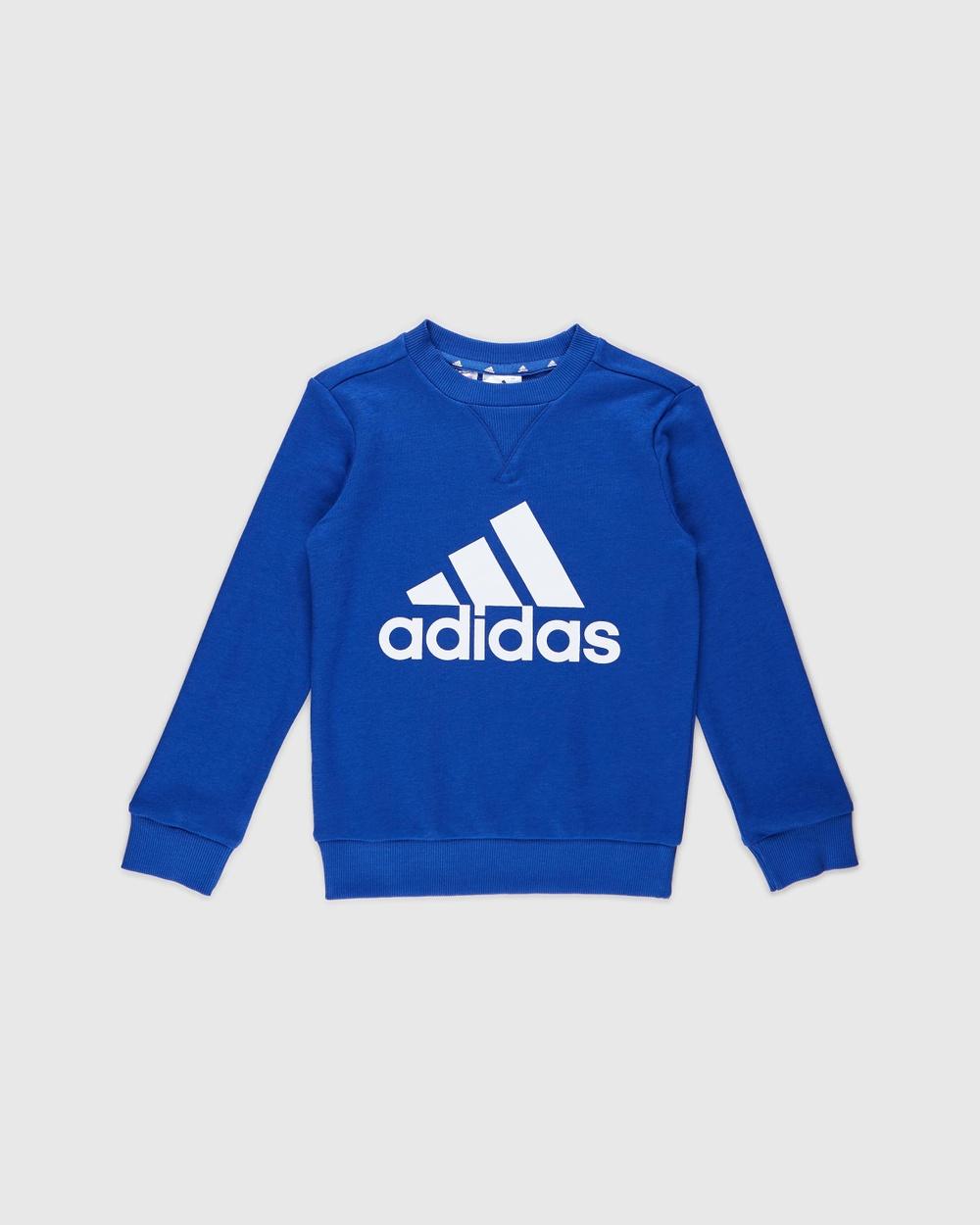 adidas Performance Essentials Sweatshirt Kids Teen Sweats Blue & White Kids-Teen