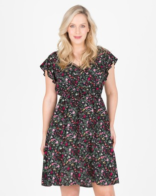 Love Your Wardrobe – Blow Away Floral Ruffle Dress Blow Away Floral