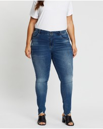ONLY CARMAKOMA - Regular Raw Skinny Jeans