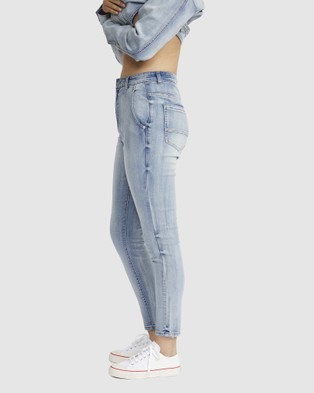 Jac & Mooki High Rise Skinny Ankle Jeans - Jeans (vintage wash)