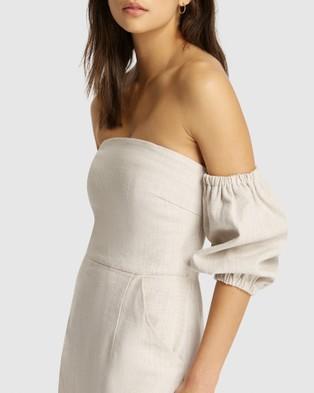 FRIEND of AUDREY Hayley Linen Speckled Dress - Printed Dresses (Natural Print)