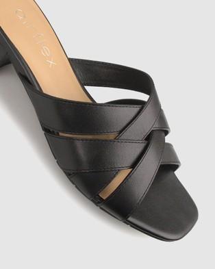 Airflex Jangle Leather Mules - Sandals (Black)