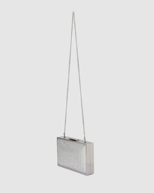 Olga Berg Chevy Crystal Box Clutch - Clutches (Silver)