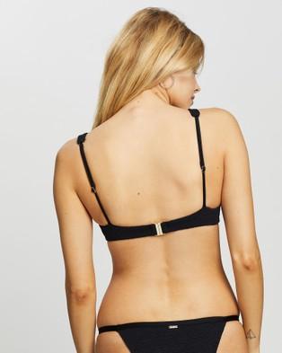 Rusty Sandalwood Slick Underwire Bikini Top - Bikini Tops (Black)