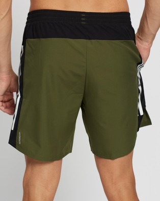 adidas Performance Own The Run 3 Stripes Shorts - Shorts (Wild Pine & Black)