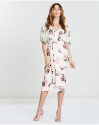 Pasduchas - Floweret Cape Midi Dress