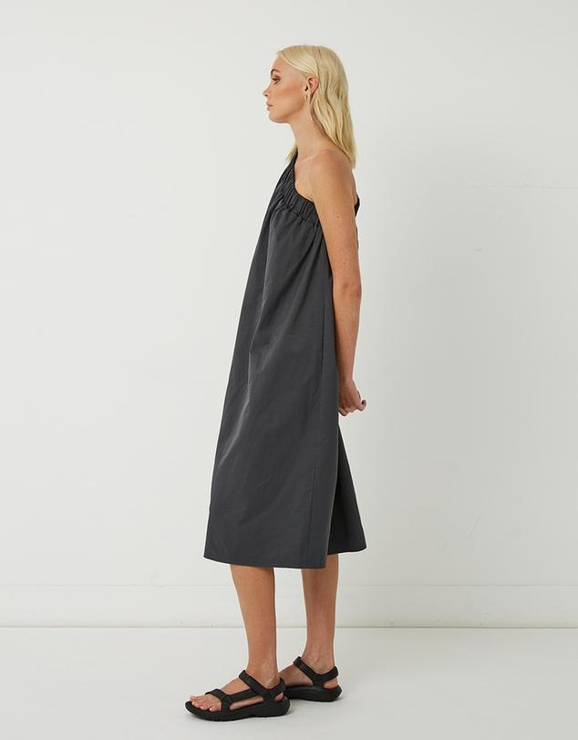 Women Lola One Shoulder Cotton-Blend Dress