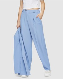 TOPSHOP - Twill Peg Suit Trousers